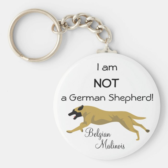 NOT a German Shepherd Basic Round Button Key Ring