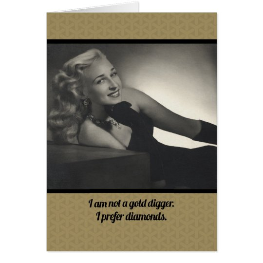 Not A Gold Digger Funny Vintage 1940s Note