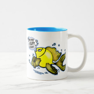 Not a Happy Bunny Fish Two-Tone Coffee Mug