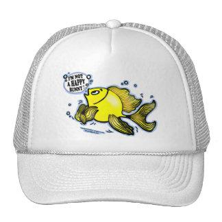 Not a Happy Bunny funny cute fish cartoon Cap