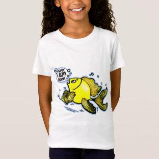 Not a Happy Bunny funny cute fish cartoon T-Shirt