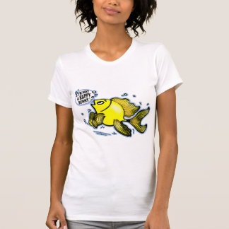 Not a Happy Bunny funny cute fish cartoon t-shirt