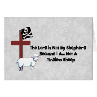 Not A Mindless Sheep Card