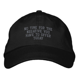 Not a Negative Day_ Embroidered Hat_by Elenne Embroidered Cap