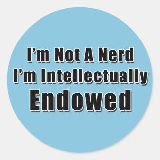 Not a Nerd Round Sticker