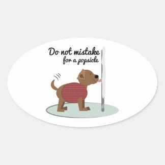 Not a Popsicle Oval Sticker