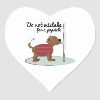 Not a Popsicle Heart Stickers