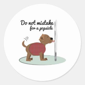 Not a Popsicle Sticker