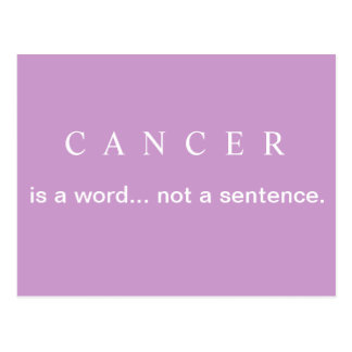 NOT A SENTENCE Breast Cancer Postcard