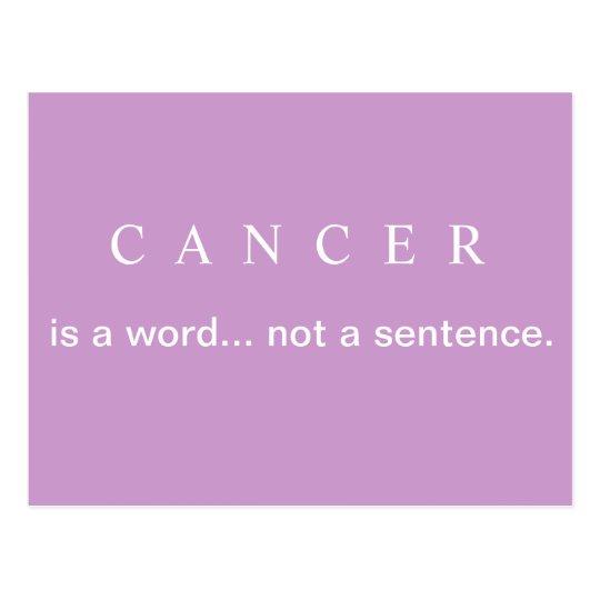 Not A Sentence Breast Cancer Postcard Zazzlecouk