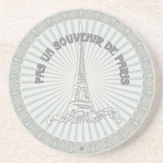 Not a souvenir of Paris Beverage Coaster
