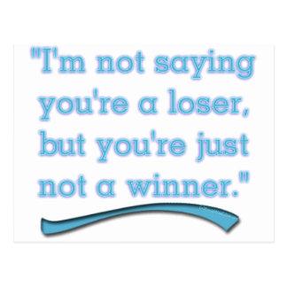 NOT A WINNER POSTCARD