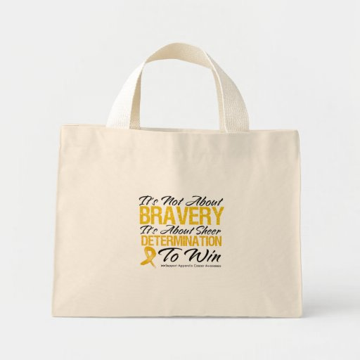 Not About Bravery - Appendix Cancer Canvas Bags