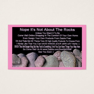 Not About The Rocks Business Card