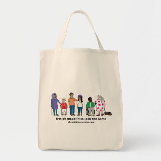 Not All Disabilities Look the Same Grocery Tote