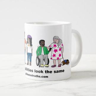 Not All Disabilities Look the Same Jumbo Mug
