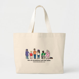 Not All Disabilities Look the Same Jumbo Tote