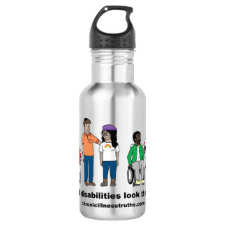 Not All Disabilities Look the Same Water Bottle 532 Ml Water Bottle
