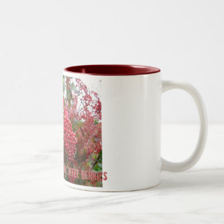 Not all red berries are coffee berries Two-Tone mug