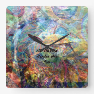 Not All Who Wander Are Lost Inspirational Quote Wallclocks