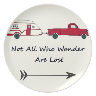 Not All Who Wander Are Lost Quote Trailer Caravan Plate