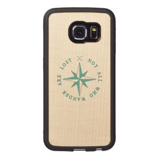 Not All Who Wander Are Lost Wood Phone Case