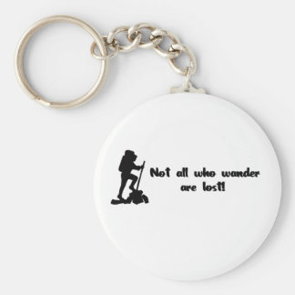 Not all who wander... key ring