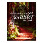 Not All Who Wander Post Cards