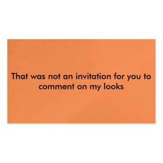 not an invitation street harassment cards pack of standard business cards