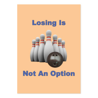 Not An Option Bowling Business Cards