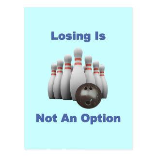 Not An Option Bowling Postcard