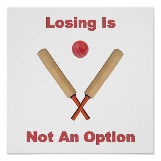 Not An Option Cricket Poster