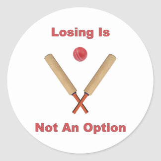 Not An Option Cricket Round Sticker