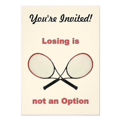 Not an Option Tennis 13 Cm X 18 Cm Invitation Card