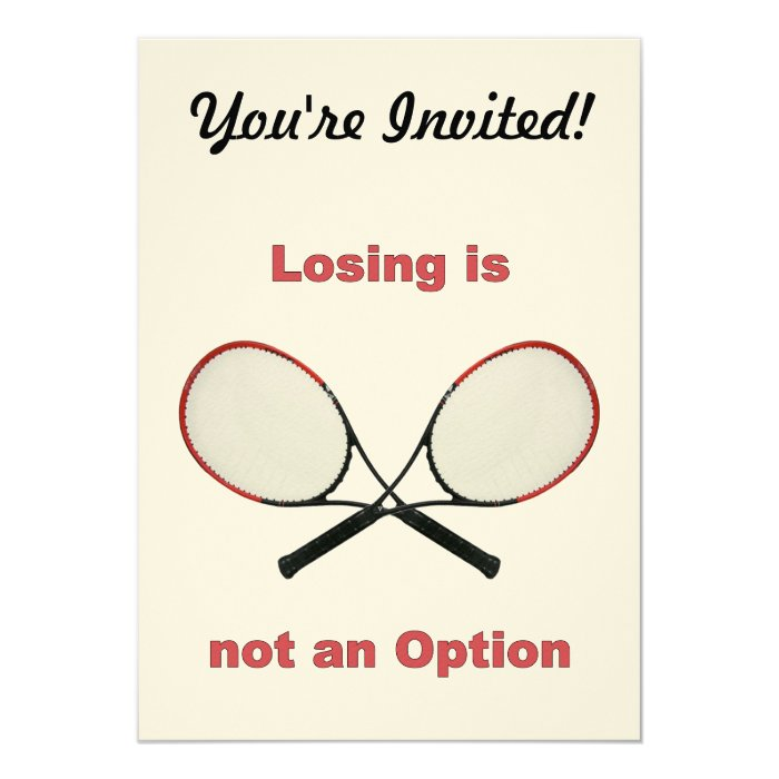Not an Option Tennis 13 Cm X 18 Cm Invitation Card
