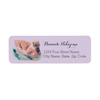 """Not an Ugly Duckling"" Return Address Label"