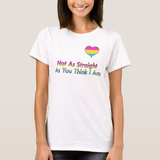 """Not As Straight"" Pansexual/Panromantic Shirt"