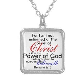 not ashamed of the gospel of christ necklace