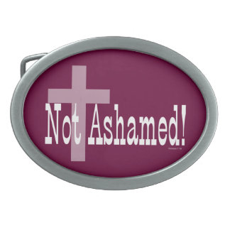 Not Ashamed! Romans 1:16 (with Cross) Belt Buckles