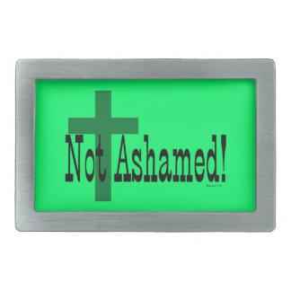 Not Ashamed! Romans 1:16 (with Cross) Belt Buckles