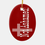 Not Ashamed! Romans 1:16 (with Cross) Ceramic Oval Decoration
