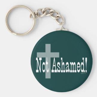 Not Ashamed! Romans 1:16 (with Cross) Key Ring