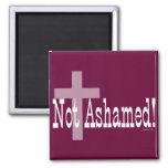 Not Ashamed! Romans 1:16 (with Cross) Fridge Magnets