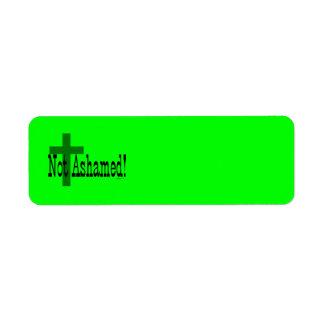 Not Ashamed! Romans 1:16 (with Cross) Return Address Label