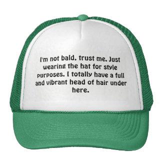 Not bald hat