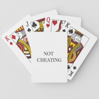 """Not Cheating"" Playing Cards"