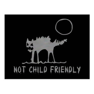 Not Child Friendly Postcard