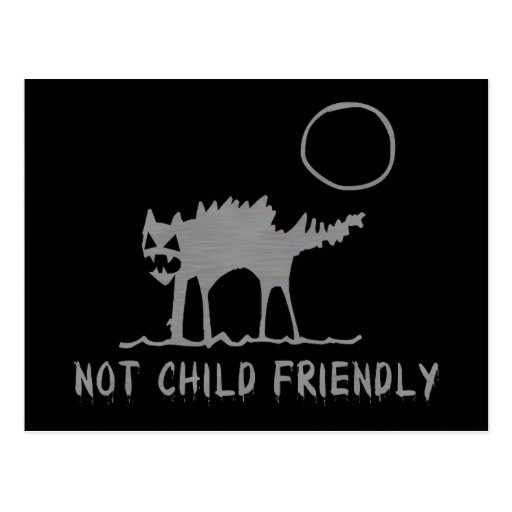 Not Child Friendly Post Card