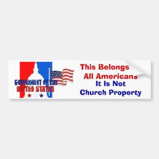 Not Church Property Bumper Sticker