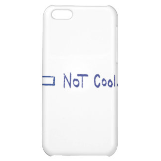 Not cool.™ (left arrow) iPhone 5C cover
